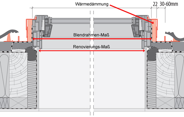 Dachfenster querschnitt  Schwingfenster KSW-S 134-140 | Plan.One